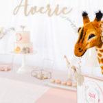 Whimsical Pastel Zoo Animal Birthday Party on Kara's Party Ideas   KarasPartyIdeas.com (3)