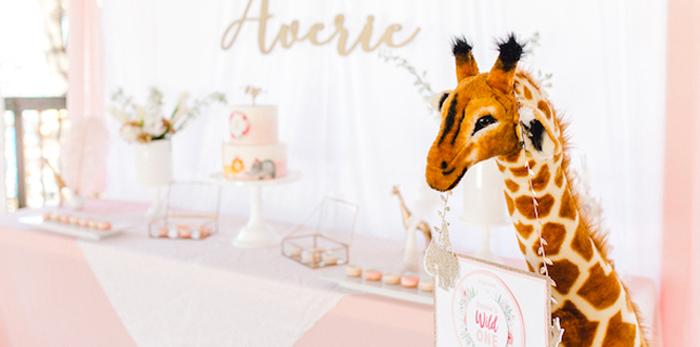 Whimsical Pastel Zoo Animal Birthday Party on Kara's Party Ideas | KarasPartyIdeas.com (3)