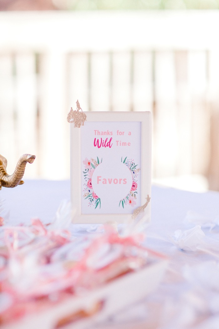 Wild One Favor Table Signage + Print from a Whimsical Pastel Zoo Animal Birthday Party on Kara's Party Ideas | KarasPartyIdeas.com (16)