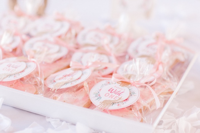 Wild One Favor Sack Tags + Sugar Cookies from a Whimsical Pastel Zoo Animal Birthday Party on Kara's Party Ideas | KarasPartyIdeas.com (15)