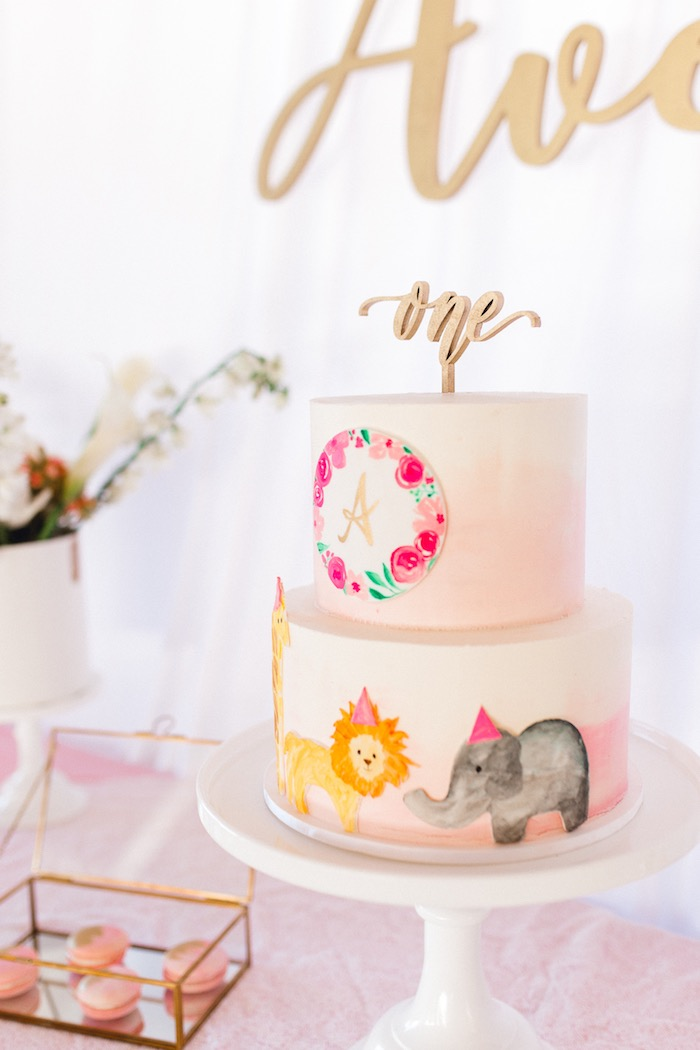 Whimsical Pastel Zoo Animal Birthday Party