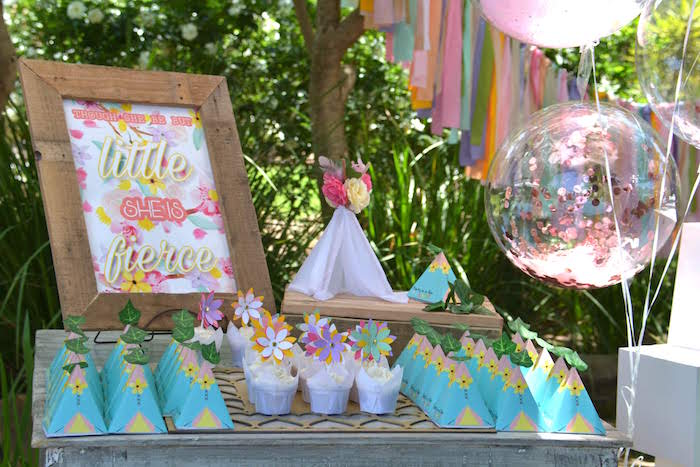 Little BUT Fierce Party Table from a Wild ONE Bohemian Picnic 1st Birthday Party on Kara's Party Ideas | KarasPartyIdeas.com (21)