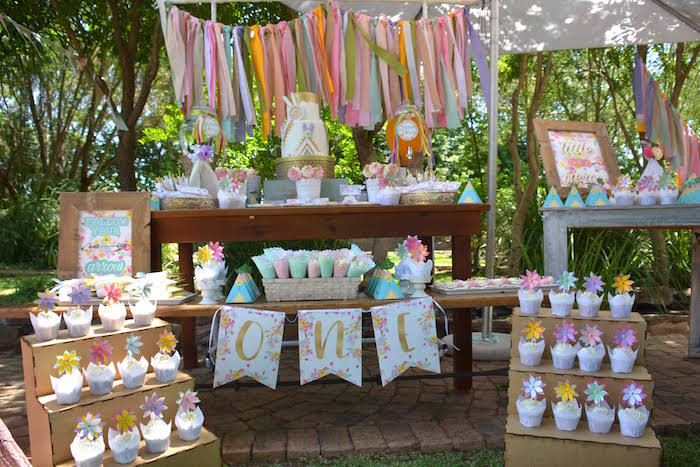 Wild One Boho Dessert Table from a Wild ONE Bohemian Picnic 1st Birthday Party on Kara's Party Ideas | KarasPartyIdeas.com (18)