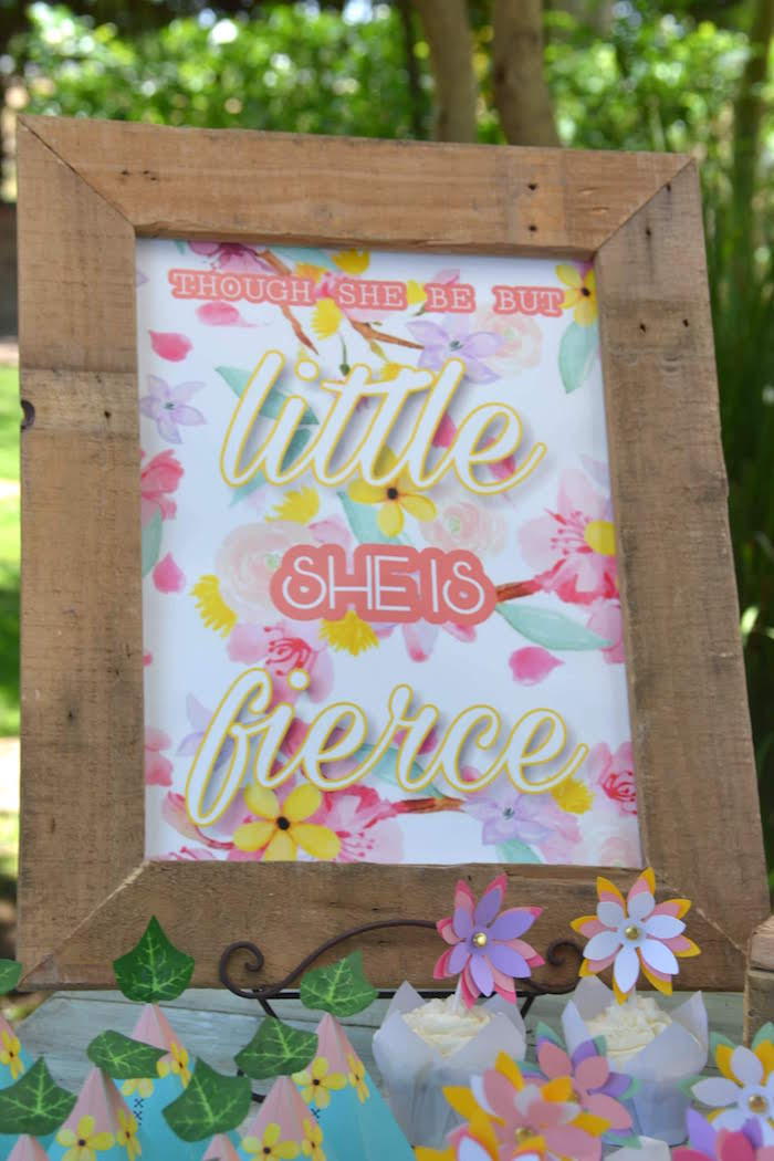 Little & Fierce Party Print from a Wild ONE Bohemian Picnic 1st Birthday Party on Kara's Party Ideas | KarasPartyIdeas.com (14)