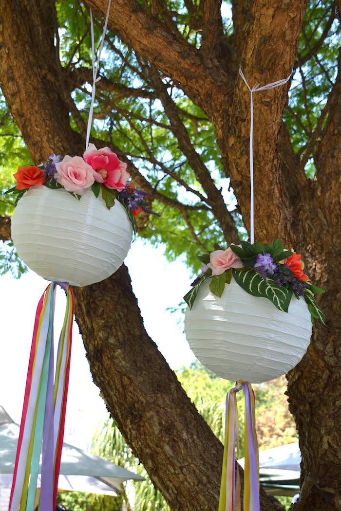 Bohemian Paper Lanterns from a Wild ONE Bohemian Picnic 1st Birthday Party on Kara's Party Ideas | KarasPartyIdeas.com (13)