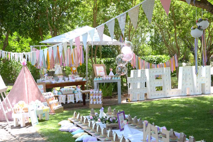 Wild ONE Bohemian Picnic 1st Birthday Party on Kara's Party Ideas | KarasPartyIdeas.com (12)