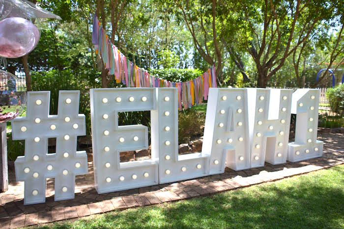 Letter Lights from a Wild ONE Bohemian Picnic 1st Birthday Party on Kara's Party Ideas | KarasPartyIdeas.com (30)