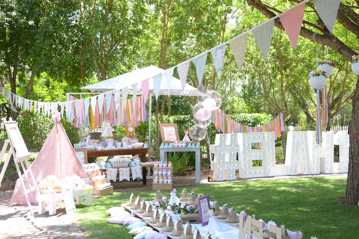 Wild ONE Bohemian Picnic 1st Birthday Party on Kara's Party Ideas | KarasPartyIdeas.com (9)