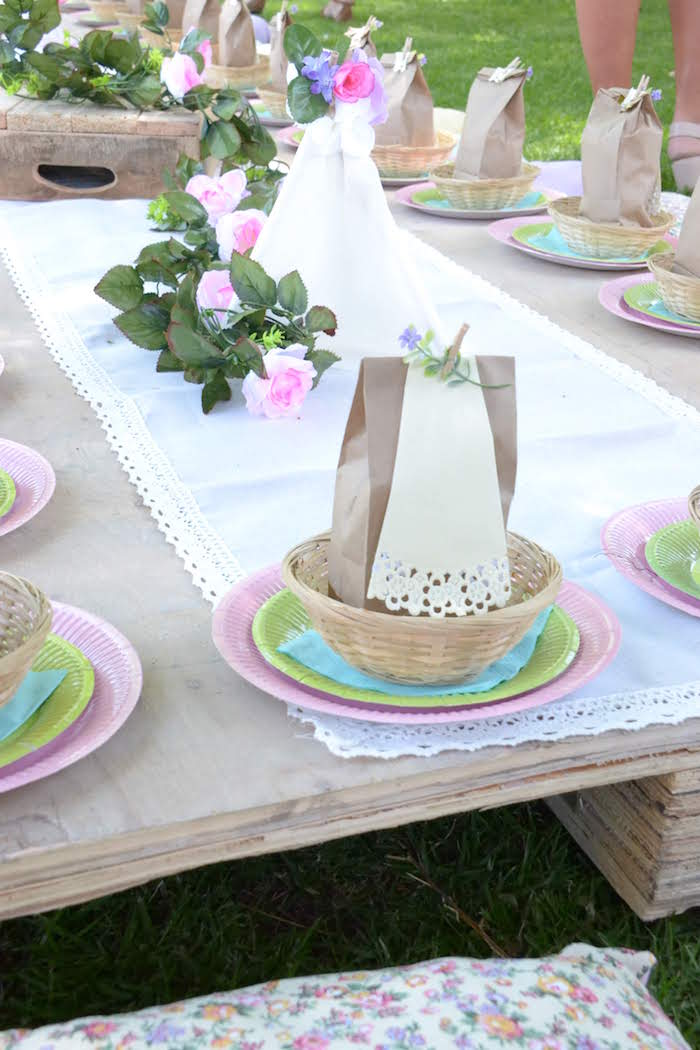 Boho Table Setting from a Wild ONE Bohemian Picnic 1st Birthday Party on Kara's Party Ideas | KarasPartyIdeas.com (8)