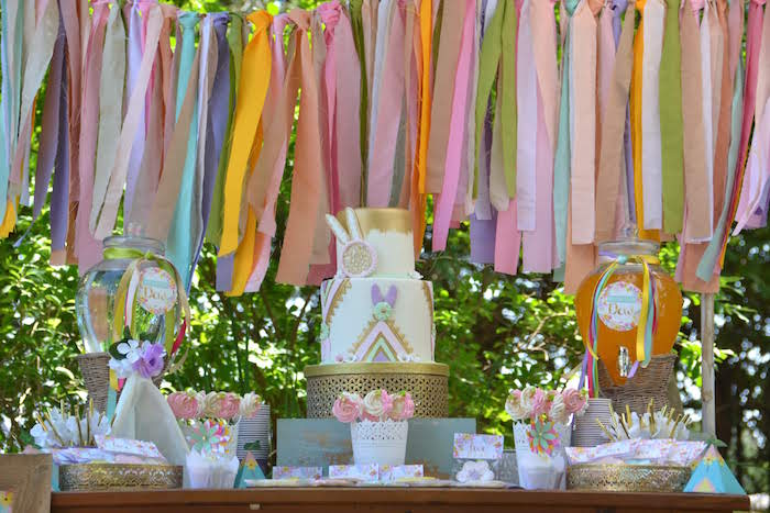Boho Dessert Table from a Wild ONE Bohemian Picnic 1st Birthday Party on Kara's Party Ideas | KarasPartyIdeas.com (6)