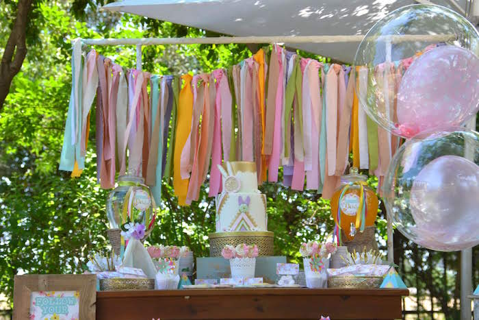 Boho Dessert Table from a Wild ONE Bohemian Picnic 1st Birthday Party on Kara's Party Ideas | KarasPartyIdeas.com (5)