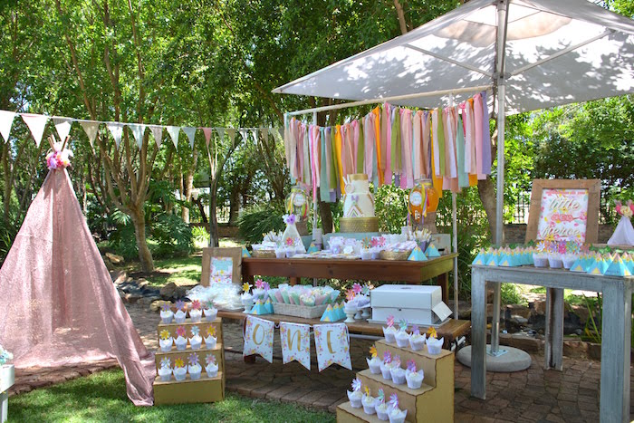 Kara S Party Ideas Wild One Bohemian Picnic 1st Birthday