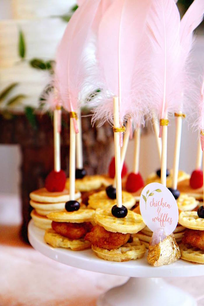 Mini Pancake + Waffle Stacks from a Young, Wild & Three Birthday Party on Kara's Party Ideas | KarasPartyIdeas.com (19)