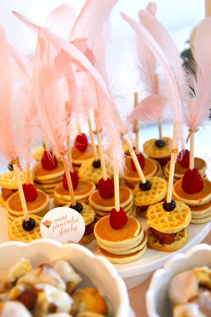 Mini Pancake + Waffle Stacks from a Young, Wild & Three Birthday Party on Kara's Party Ideas | KarasPartyIdeas.com (33)
