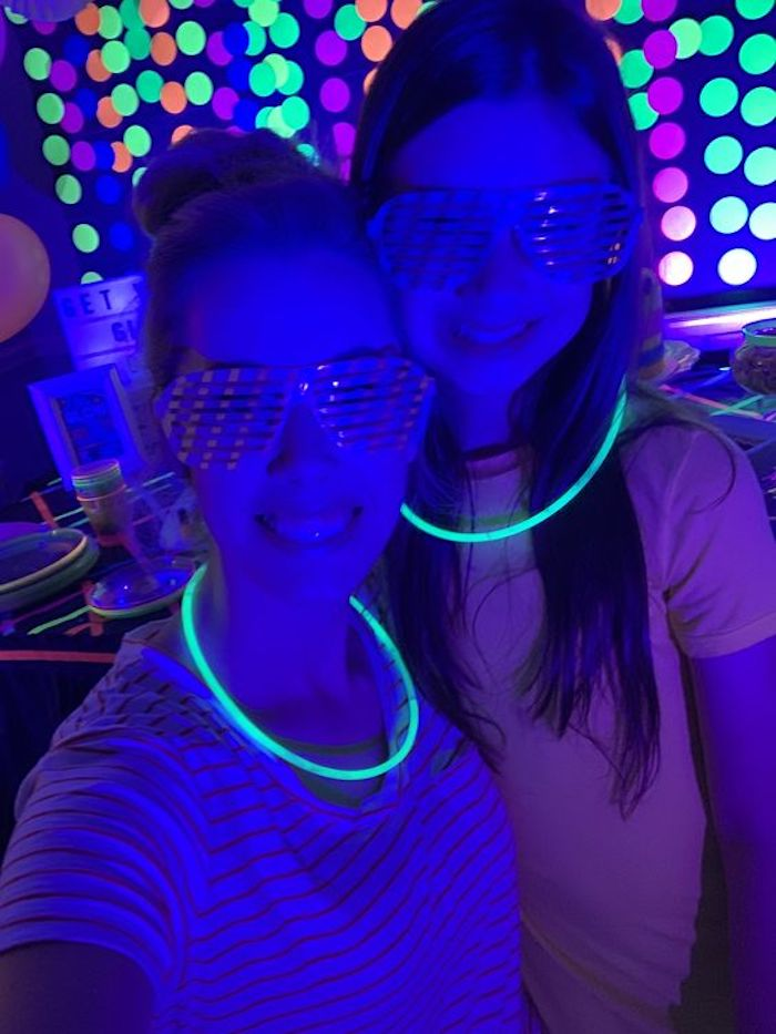 "Glow Gear - Necklaces + Glasses from a ""Get Your Glow On"" Birthday Party on Kara's Party Ideas 