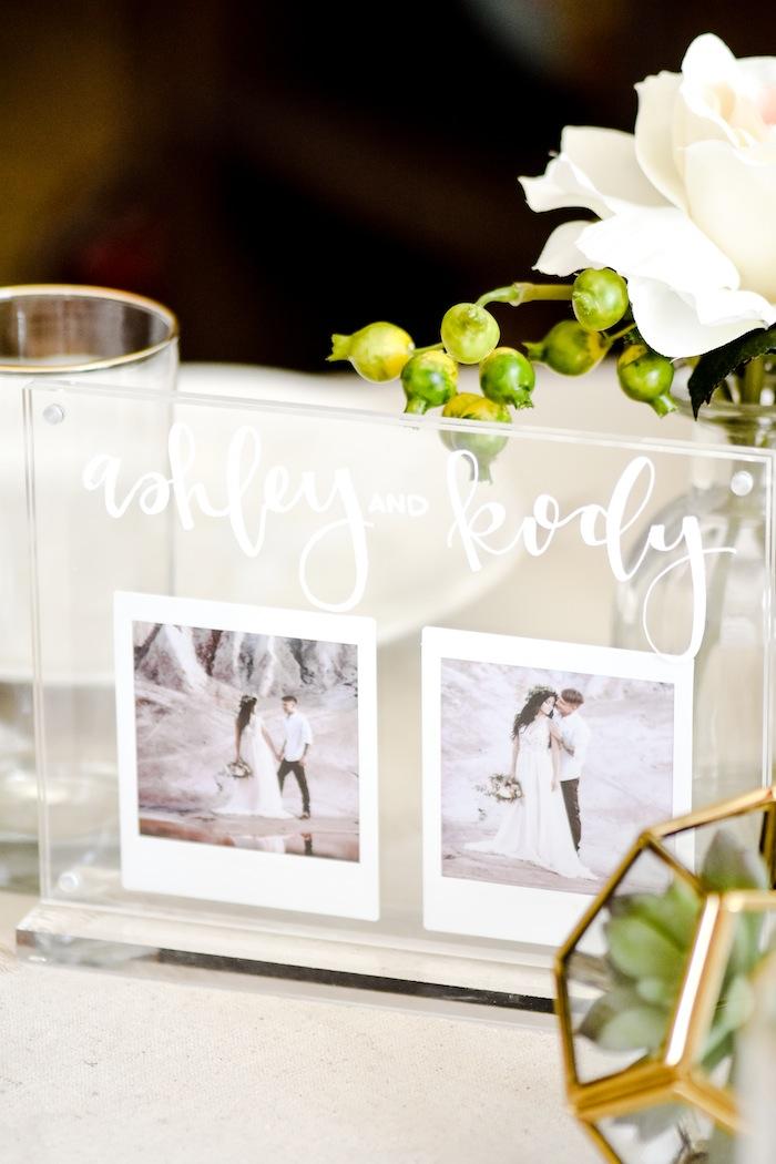 Acrylic Wedding Centerpiece or Table Number. Modern Idea by Kara's Party Ideas. instax FUJIFILM Printer-2 #AD