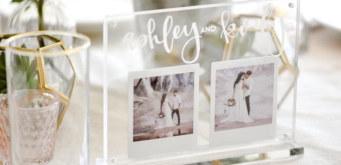 Acrylic Wedding Centerpiece or Table Number. Modern Idea by Kara's Party Ideas. instax FUJIFILM Printer-8