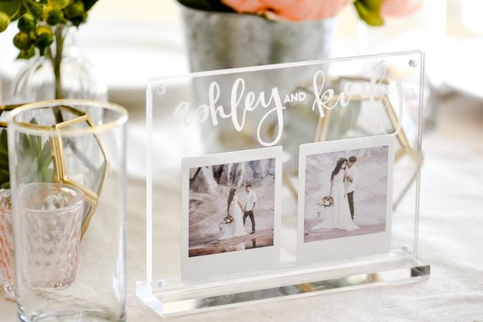 Acrylic Wedding Centerpiece or Table Number. Modern Idea by Kara's Party Ideas. instax FUJIFILM Printer-2#AD