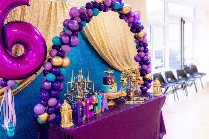 Aladdin Themed Dessert Table from an Aladdin Birthday Party on Kara's Party Ideas | KarasPartyIdeas.com (13)