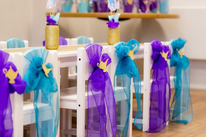 Aladdin Kid Table from an Aladdin Birthday Party on Kara's Party Ideas | KarasPartyIdeas.com (23)
