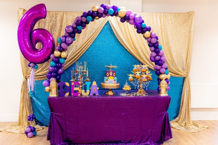 Aladdin Themed Dessert Table from an Aladdin Birthday Party on Kara's Party Ideas | KarasPartyIdeas.com (16)