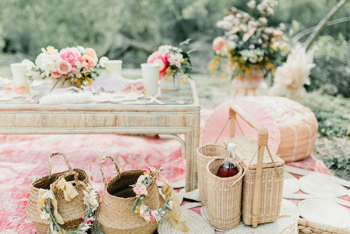Boho Baskets from an Alpaca Love Birthday Party on Kara's Party Ideas | KarasPartyIdeas.com (45)