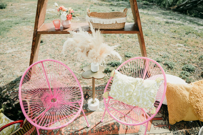 Modern Pink Chairs from an Alpaca Love Birthday Party on Kara's Party Ideas | KarasPartyIdeas.com (36)