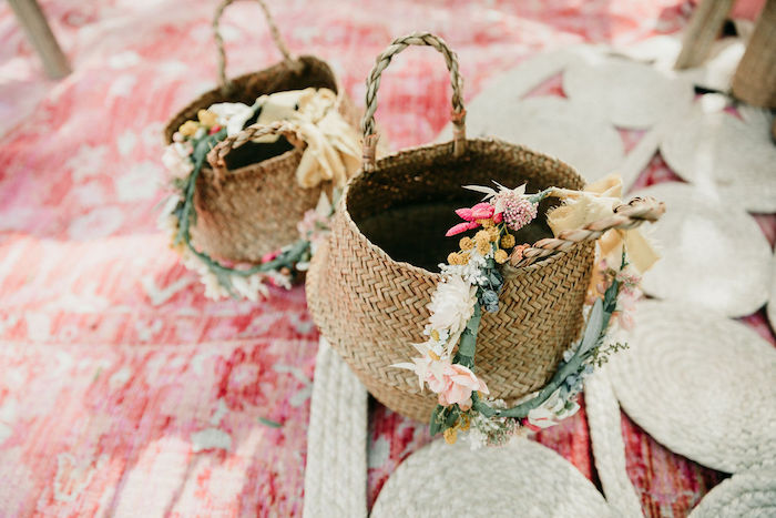 Boho Baskets from an Alpaca Love Birthday Party on Kara's Party Ideas | KarasPartyIdeas.com (33)