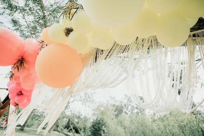 Boho Fringe Balloon Garland from an Alpaca Love Birthday Party on Kara's Party Ideas   KarasPartyIdeas.com (30)