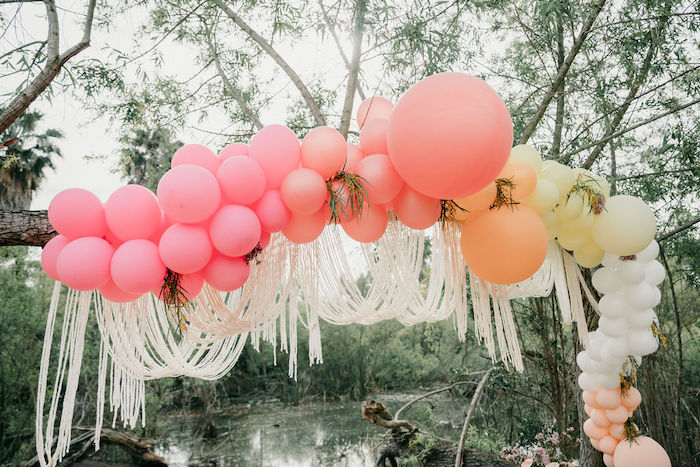 Boho Fringe Balloon Garland from an Alpaca Love Birthday Party on Kara's Party Ideas | KarasPartyIdeas.com (22)