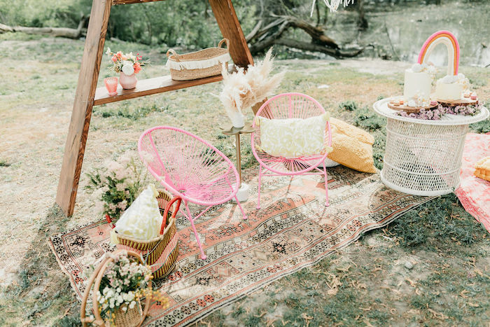Boho Lounge from an Alpaca Love Birthday Party on Kara's Party Ideas | KarasPartyIdeas.com (52)