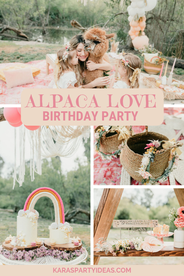 Alpaca Love Birthday Party via Kara's Party Ideas - KarasPartyIdeas.com