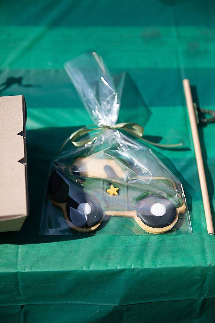 Army Jeep Cookie from an Army Military Birthday Party on Kara's Party Ideas | KarasPartyIdeas.com (17)