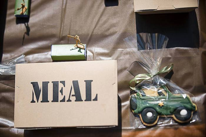Army-inspired MEAL Table Setting from an Army Military Birthday Party on Kara's Party Ideas | KarasPartyIdeas.com (12)