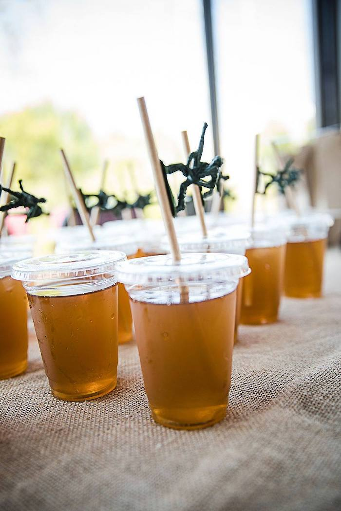 Drink Cups topped with Army Men from an Army Military Birthday Party on Kara's Party Ideas | KarasPartyIdeas.com (19)