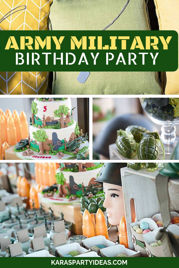 Army Military Birthday Party via KarasPartyIdeas - KarasPartyIdeas.com