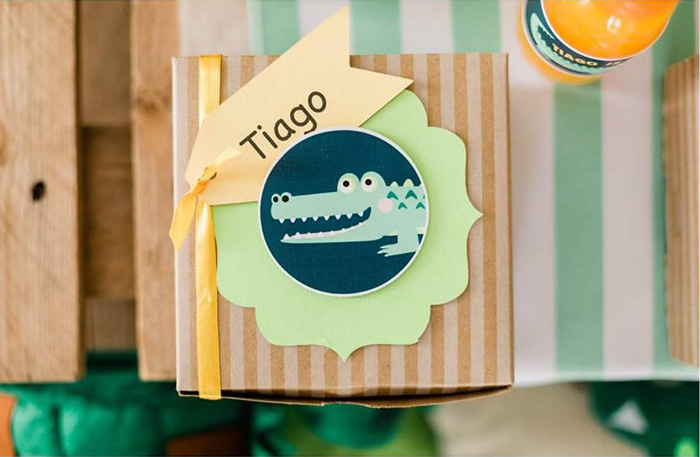 Crocodile Labeled Lunchbox from a Chomp Chomp Crocodile Birthday Party on Kara's Party Ideas | KarasPartyIdeas.com (9)