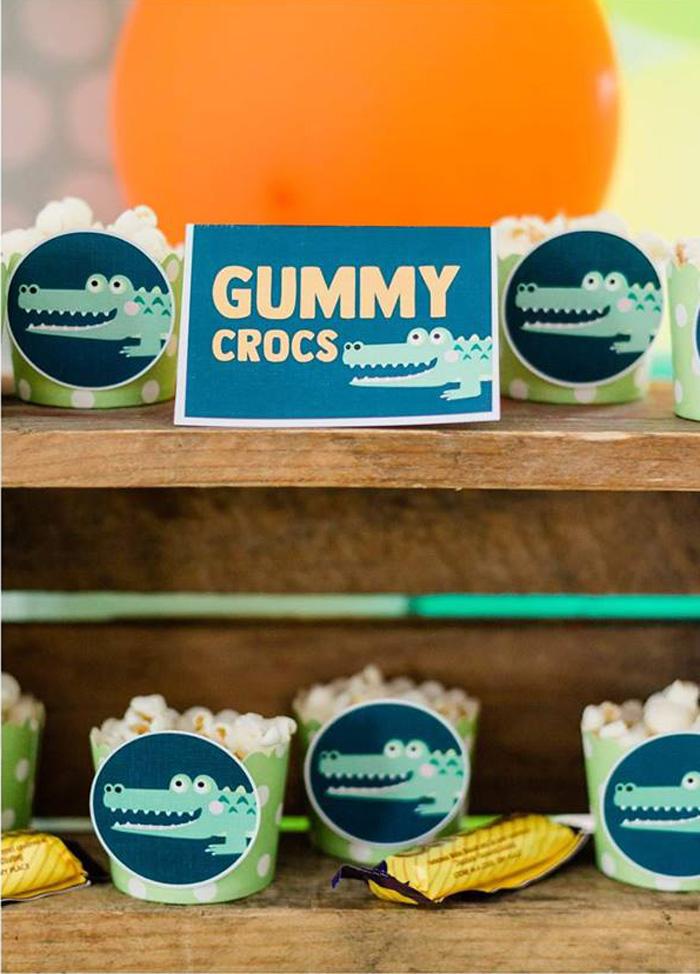Gummy Crocs from a Chomp Chomp Crocodile Birthday Party on Kara's Party Ideas | KarasPartyIdeas.com (15)