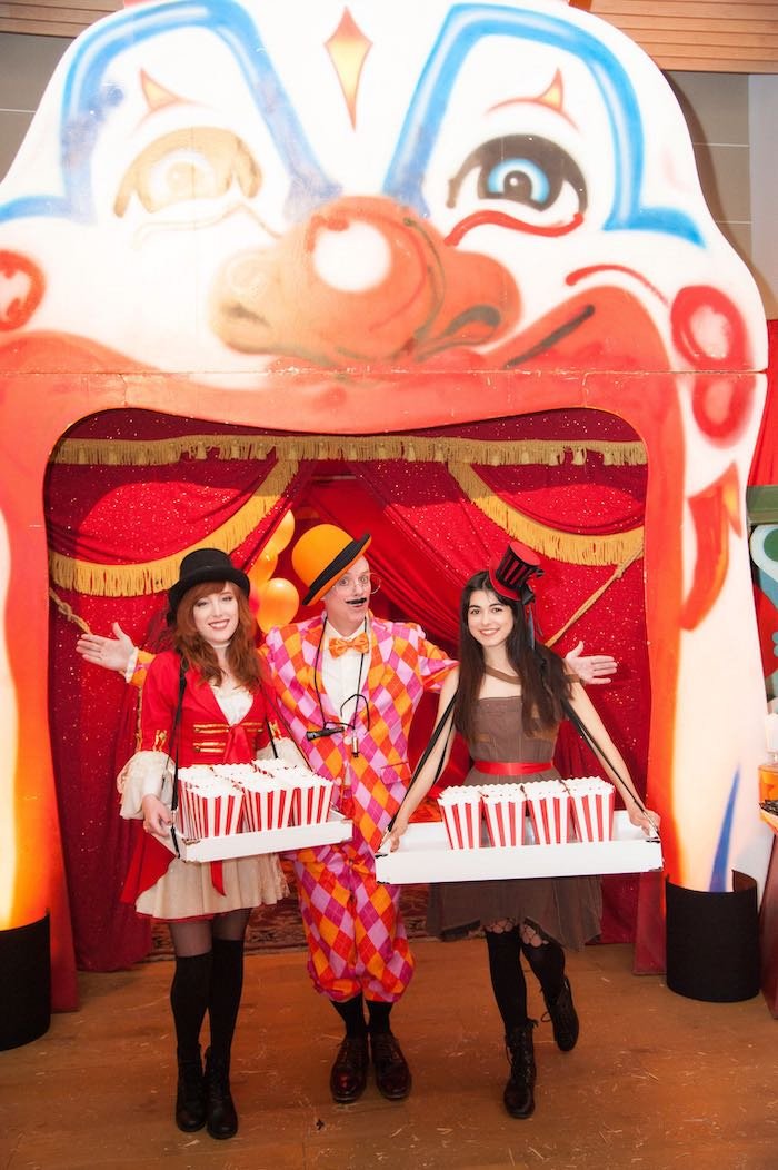Snack Vendors from a Circus Themed Bat Mitzvah on Kara's Party Ideas | KarasPartyIdeas.com (19)
