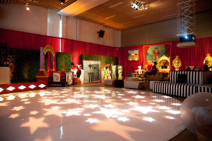 Star Stage from a Circus Themed Bat Mitzvah on Kara's Party Ideas | KarasPartyIdeas.com (18)