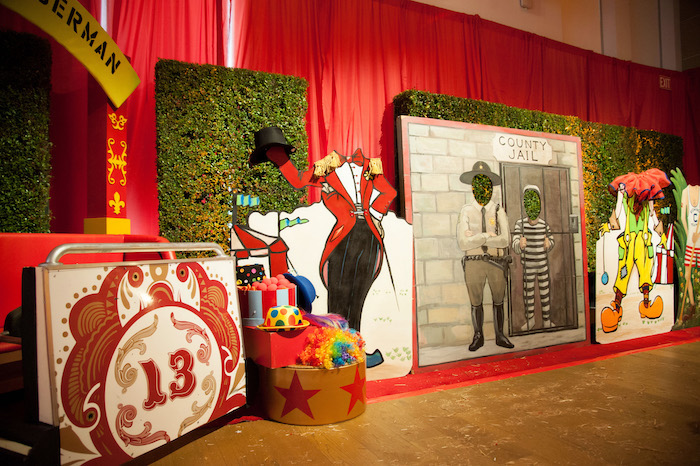 Circus Photo Booths + Props from a Circus Themed Bat Mitzvah on Kara's Party Ideas | KarasPartyIdeas.com (17)