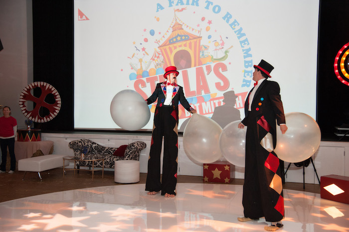 Circus Entertainment from a Circus Themed Bat Mitzvah on Kara's Party Ideas | KarasPartyIdeas.com (16)