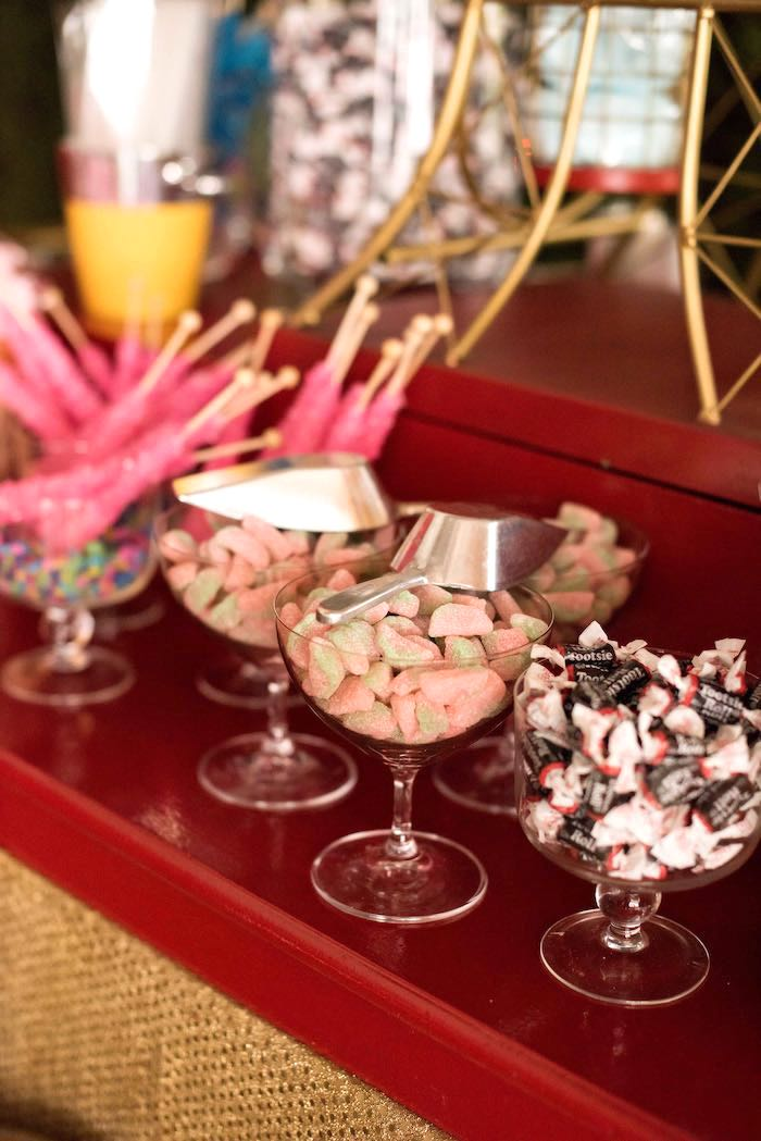 Candy Cups from a Circus Themed Bat Mitzvah on Kara's Party Ideas   KarasPartyIdeas.com (15)