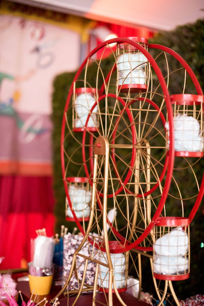Cupcake Ferris Wheel from a Circus Themed Bat Mitzvah on Kara's Party Ideas | KarasPartyIdeas.com (14)