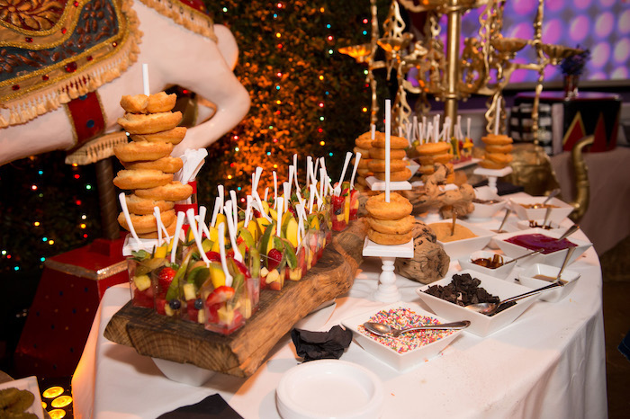 Circus-inspired Food Table from a Circus Themed Bat Mitzvah on Kara's Party Ideas | KarasPartyIdeas.com (9)