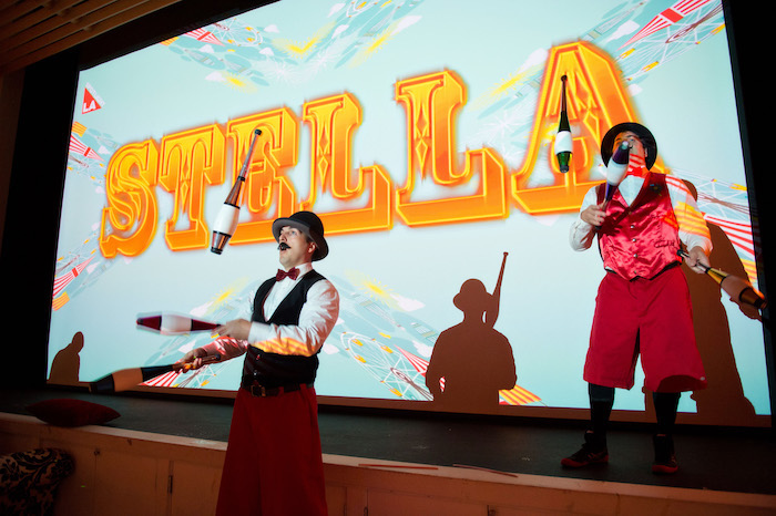 Jugglers + Entertainment from a Circus Themed Bat Mitzvah on Kara's Party Ideas | KarasPartyIdeas.com (6)