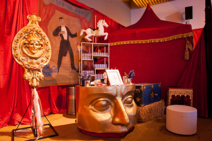 Circus Themed Party Decor + Tables from a Circus Themed Bat Mitzvah on Kara's Party Ideas | KarasPartyIdeas.com (28)