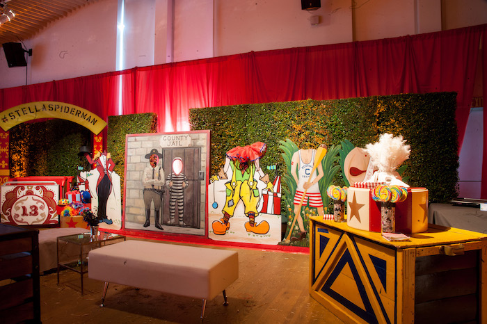 Circus Themed Photo Backdrops from a Circus Themed Bat Mitzvah on Kara's Party Ideas | KarasPartyIdeas.com (26)