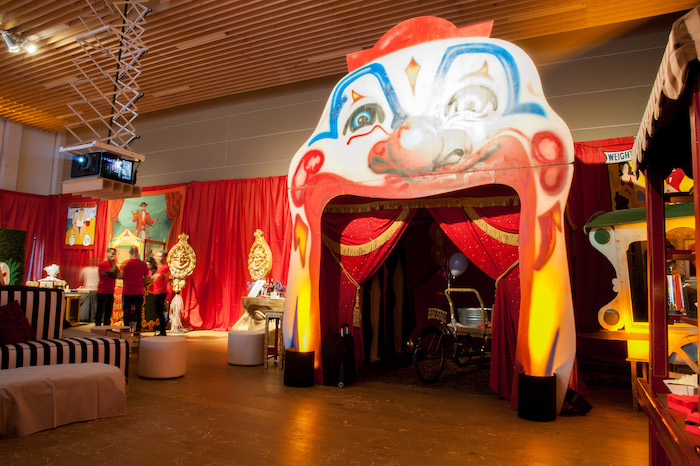 Clown Arch + Entrance from a Circus Themed Bat Mitzvah on Kara's Party Ideas | KarasPartyIdeas.com (25)