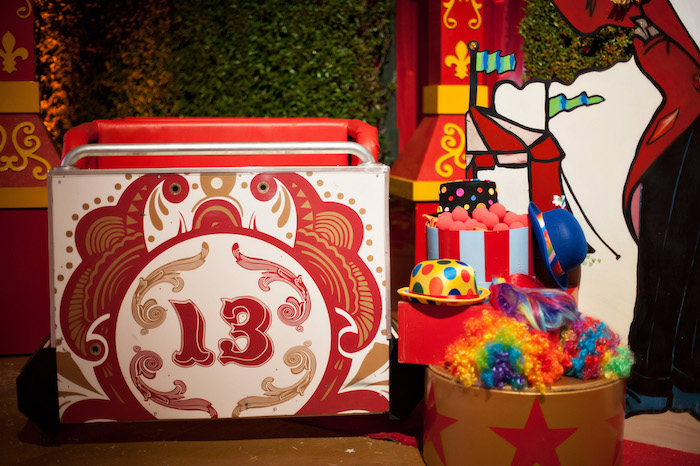 Circus Props from a Circus Themed Bat Mitzvah on Kara's Party Ideas | KarasPartyIdeas.com (22)